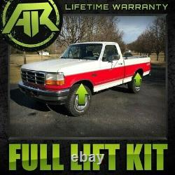 2 + 1 Full Leveling Lift Kit For 1981-1996 Ford F150 2WD + 3/4 Stud Extenders