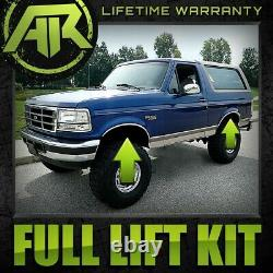 2 Full Lift Kit Fits 1980-1996 Ford Bronco 2WD Non Twin I-Beam Suspension