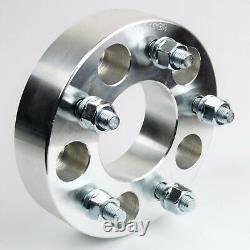 2 PC 2 WHEEL SPACER ADAPTERS 5X5.5 TO 5X5 CB 87.1 Studs 1/2-20 FIT RAM 1500
