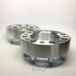 2pc 1.5 Hubcentric Wheel Spacers 8x170 14x2 Studs Fits F250 F350 SuperDuty