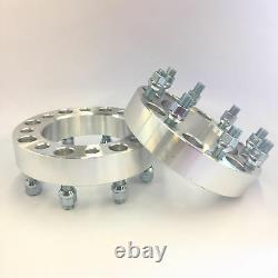 2pc 1 INCH 25MM WHEEL SPACERS 8X6.5 TO 8X6.5 9/16 STUDS Fits Dodge FORD