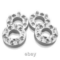 4 Hubcentric Wheel Spacers Adapters fits 5 lug hub Ford 1 inch thick 14x2 studs