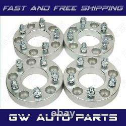 4PC 2 WHEEL SPACER ADAPTERS 5X5.5 TO 5X5 CB 87.1 Studs 1/2-20 fit Jeep CJ5