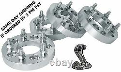 4PC WHEEL SPACERS/ADAPTERS 2 INCH THICK With 1/2 STUDS FITS JEEP AND FORD MODELS