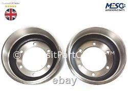 A Pair Of (two) Brake Drum Fits Ford Transit Mk4 Mk5 1991-2000 15 Inch 6 Studs