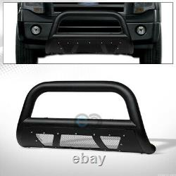 Fit 04-20 Ford F150/Expedition Textured Black Studded Mesh Bull Bar Grille Guard