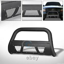 Fit 97-03 Ford F150/F250/Expedition Matte Blk Studded Mesh Bull Bar Grille Guard