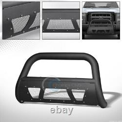 Fits 04-20 Ford F150/03+ Expedition Matte Blk Studded Mesh Bull Bar Grille Guard