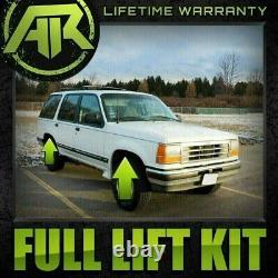 Fits 1991-1994 Ford Explorer Lift Kit Full 2 Front Spacers 1.5 Rear Blocks 4WD