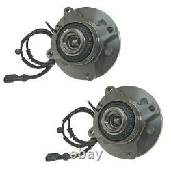 Front Wheel Hub Bearing Assembly Fit 2009-2010 FORD F-150 4WD 6 STUDS (PAIR)