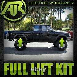 Ful Lift Kit Front Spacers 2 Rear Blocks 2 Fits 83-96 Ford Ranger 4X2