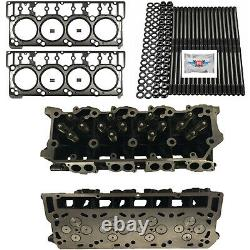 New 20mm Cylinder Heads Studs Mahle Head Gaskets Fits Ford Powerstroke 6.0L
