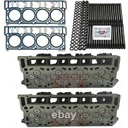 ORinged 18mm Cylinder Heads Studs OEM Head Gaskets Fits Ford Powerstroke 6.0L