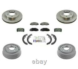 Rotors Drums Pads Shoes Spring Kit Fits Ford F150 4 Wheel Drive & 5 Studs 97-99